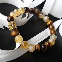 Citrine - Oeil de tigre - bracelet
