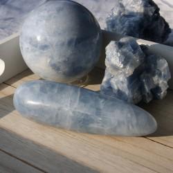 Calcite bleue bâton de massage
