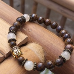 bronzite - citrine bracelet