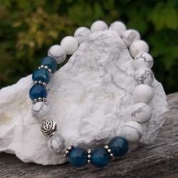 Apatite - magnésite bracelet